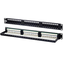 "Hyperline PP2-19-24-8P8C-C6-110 Патч-панель 19"", 1U, 24 порта RJ-45, категория 6, Dual IDC (задний"