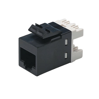 Модульное гнездо UTP 110Connect SL-типа, RJ-45 Кат.6, Цвет: черный AMP 1375055-2