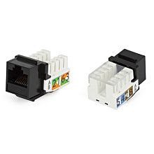 Hyperline KJ2-8P8C-C6-90-GY Вставка Keystone Jack RJ-45(8P8C), категория 6, Dual IDC(110&Krone type)