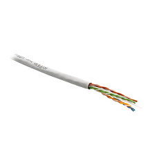 Hyperline UTP4-C6-SOLID-GY-305 Кабель витая пара UTP (U/UTP), категория 6, 4 пары (23 AWG), одножиль